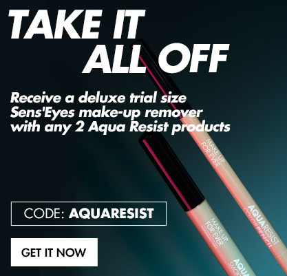 Buy any 2 Aqua Resist products and get a free travel-size Sens'Eyes