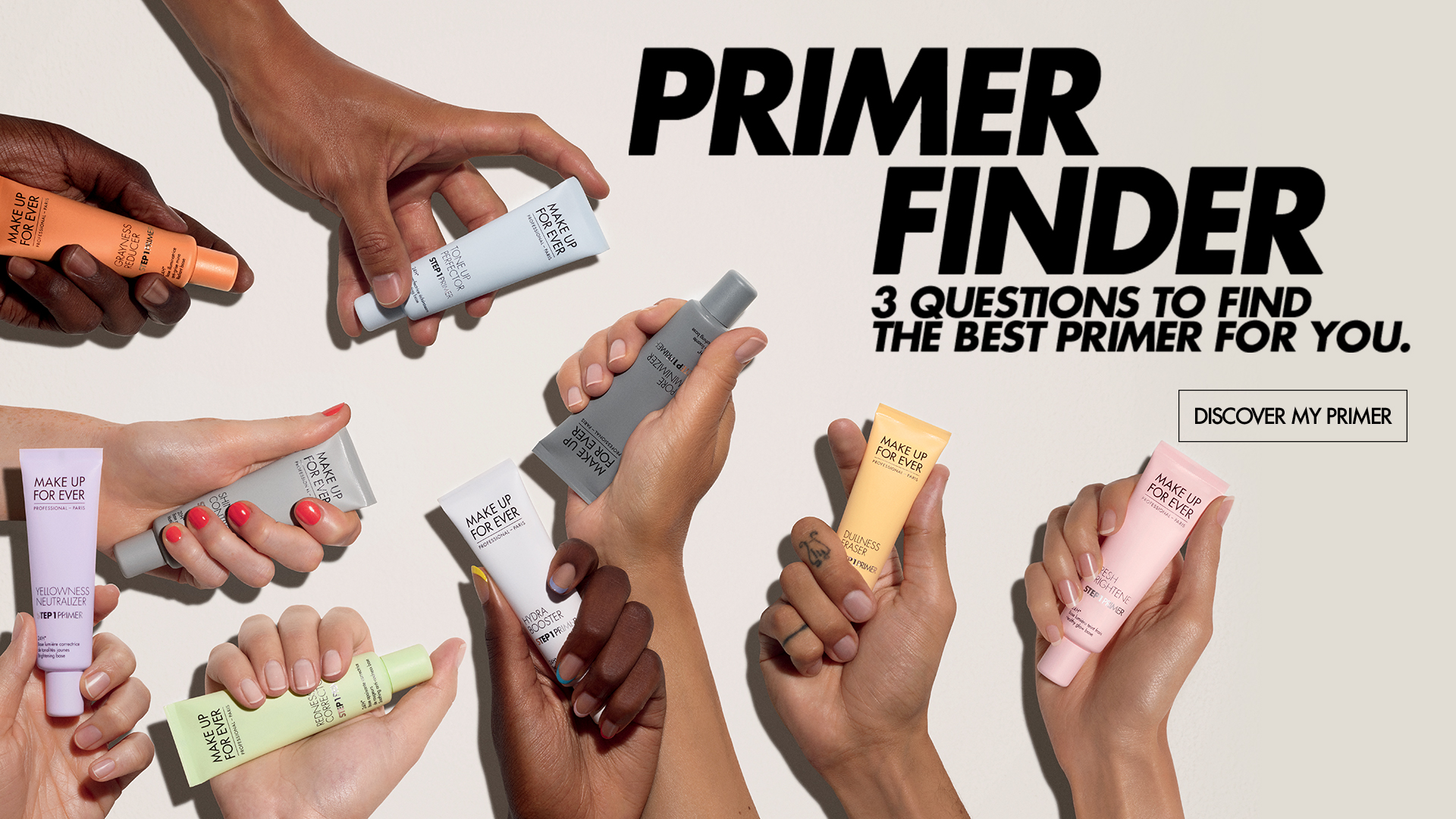 Primers FInder - Any skin type - Any skin tone - All day